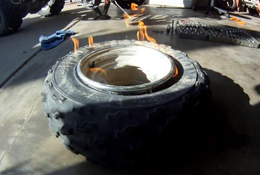Padangos montavimas su ugnimi