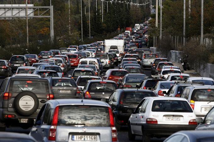 Dėl streiko keliuose susidarė transporto spūstys