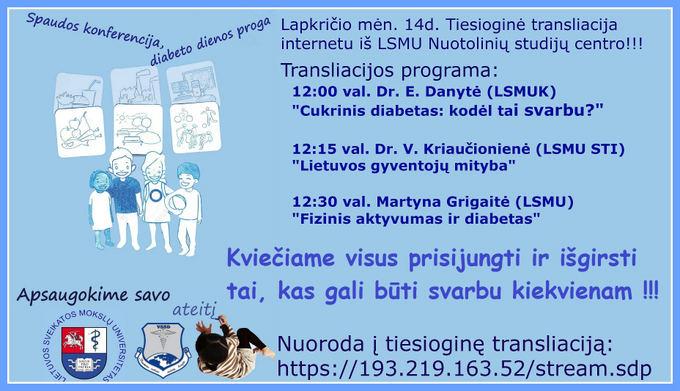 Organizatorių nuotr./Diabeto diena
