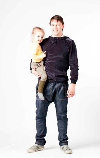 Asmeninio arch.nuotr./Dianos vyras Virginijus Vapsva su judviejų dukra Gustina
