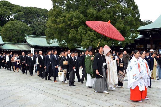 Scanpix nuotr./`intoistų vestuvės Japonijoje