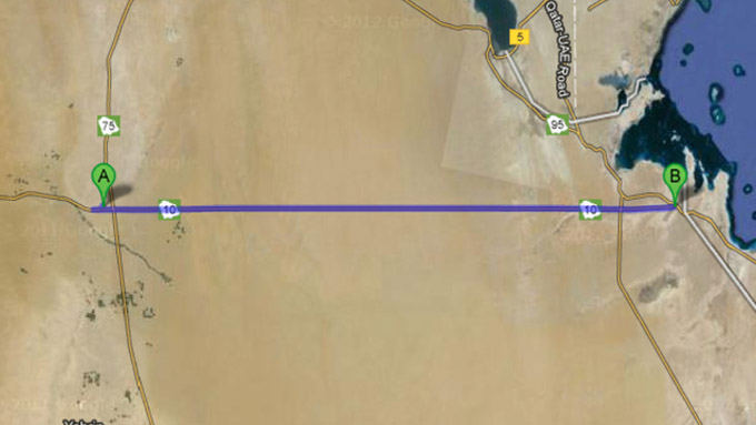 Google Maps nuotr./Greitkelis Saudo Arabijoje