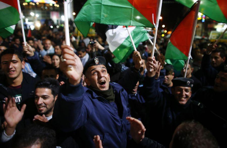 Jungtinių Tautų sprendimą Palestina sutiko su didžiuliu džiaugsmu