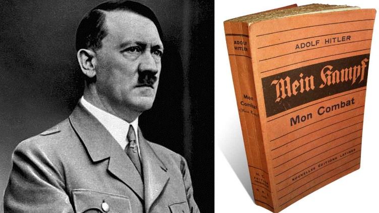 """Adolfas Hitleris ir ir jo knyga """"Mein Kampf"""""""