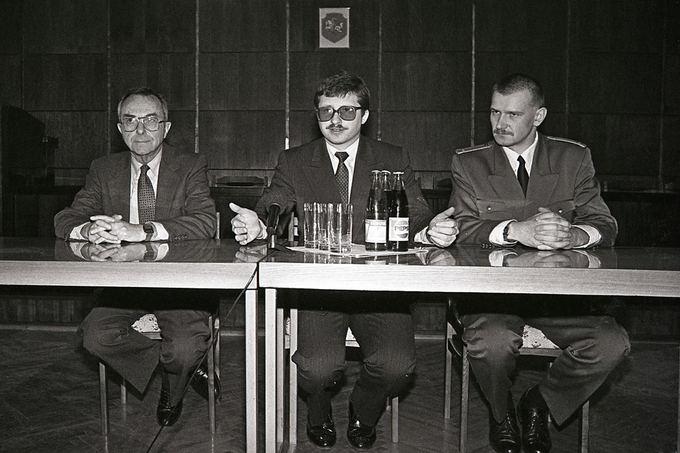 Tado Dambrausko nuotr./1991 m. Krašto apsaugos ministru paskirtas Audrius Butkevičius.