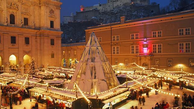 Zalcburgo kalėdinis turgus.