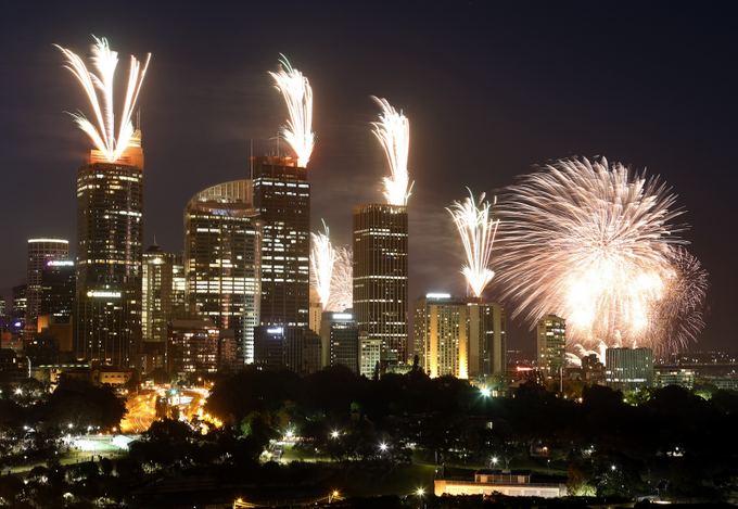 AFP/Scanpix nuotr./Sidnėjus pasitiko Naujuosius metus