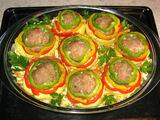 Autorės nuotr./Daržovių troškinys su mėsos kukuliais