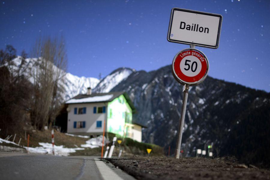 Dailono kaimiška vietovė Šveicarijoje