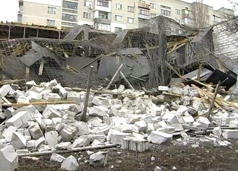 Sugriuvęs prekybos centras