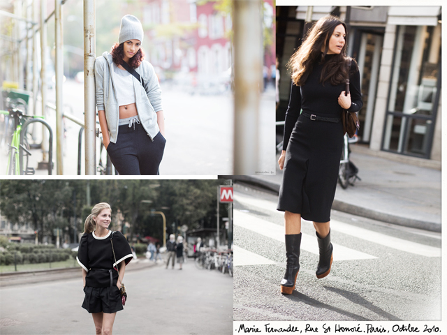 garancedore.fr/en nuotr./Garance nuotraukos madų savaičių praeives paverčia stiliaus ikonomis. Koliaže: Lauren Young, Lisa Marie Fernandez ir Marina Larroude.