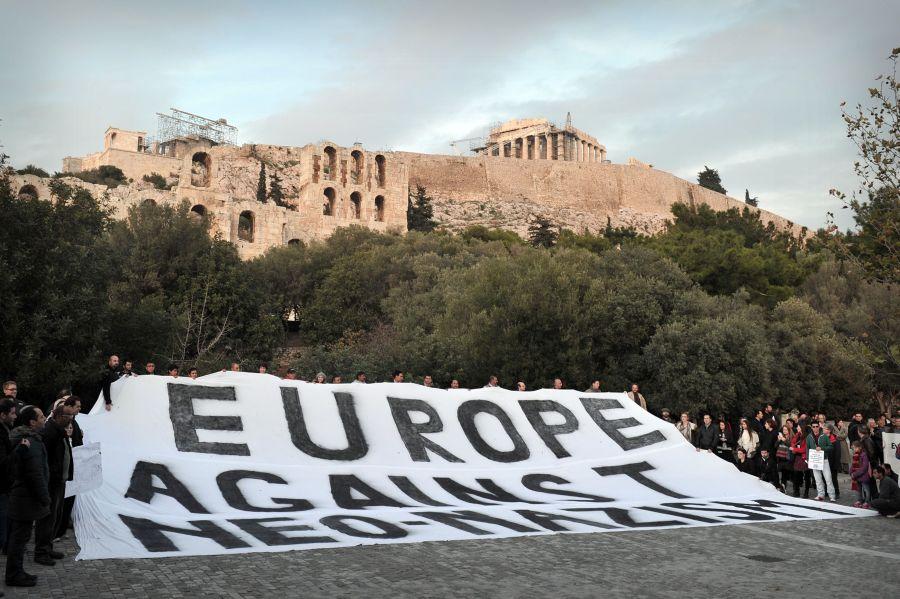 Europoje vykęs protestas prieš neonacius.