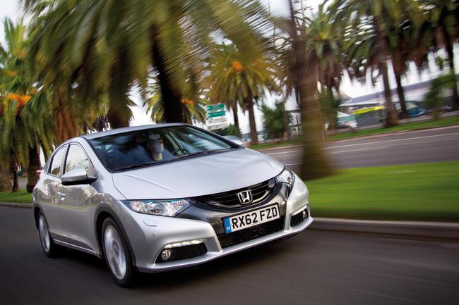 """""""Honda Civic"""" su 1,6 turbodyzeliniu varikliu bandymai Nicoje"""