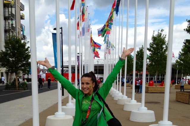 A. Stapušaitytė – Londono olimpiniame kaimelyje.