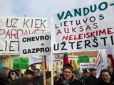 Митинг против сланцевого газа