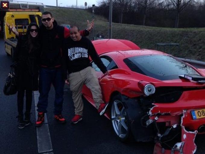 "Sudaužytas ""Ferrari 458 Italia"""