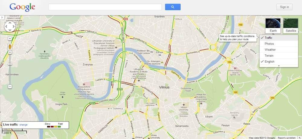 Google Adds Traffic Information To Its Vilnius Maps En 15min Lt