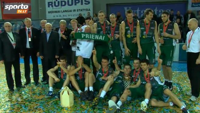 """""""Prienai"""" tapo LKF taurės čempionais"""