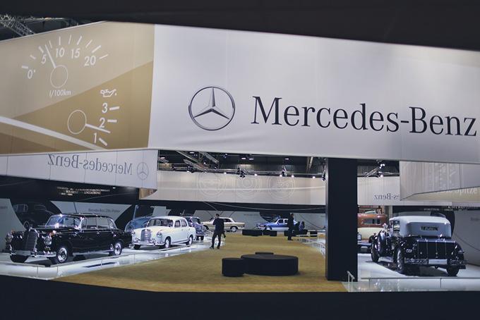 """""""Mercedes-Benz"""" stendas """"Techno Classica"""" parodoje"""