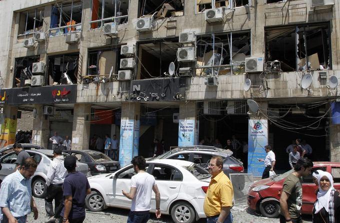 Sprogimo Damaske padariniai