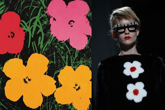 warholstore.com ir Scanpix nuotr. / Ia kairės: A. Warhol plakato fragmentas, Prada pavasario  /vasaros 2013 m. kolekcija.