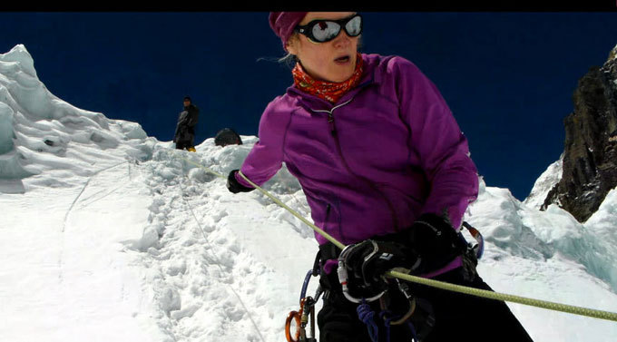 Editos Nichols asmeninio archyvo nuotr./Edita treniruojasi kopti prisiriausi prie virvių