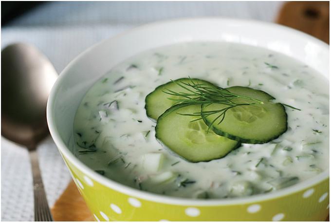 Bulgariška agurkų šaltsriubė - Tarator