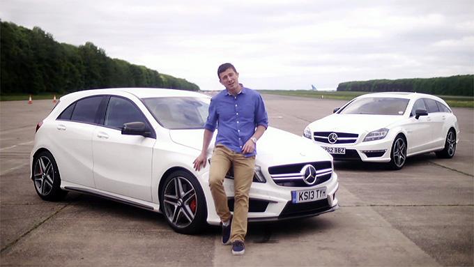 """Mercedes-Benz A45 AMG"" ir ""CLS63 AMG Shooting Brake"""