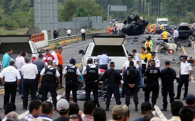 AFP/Scanpix nuotr./Avarija Meksikoje