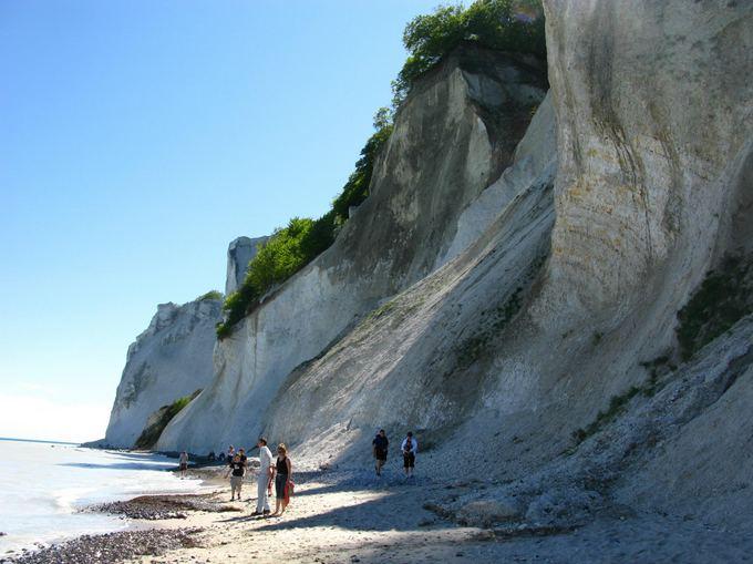 E.Karoblytės nuotr./Mons klint  kreidinės uolos