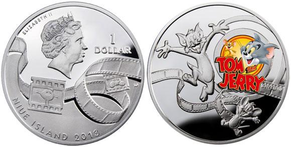 Kolekcinė Tomo ir Džerio moneta