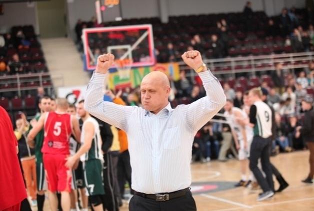 NKL nuotr./Mažeikių treneris Aloyzas Rudys.