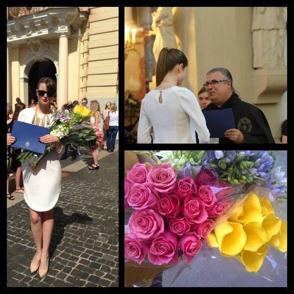 Gabrielė Martirosianaitė per diplomo teikimą