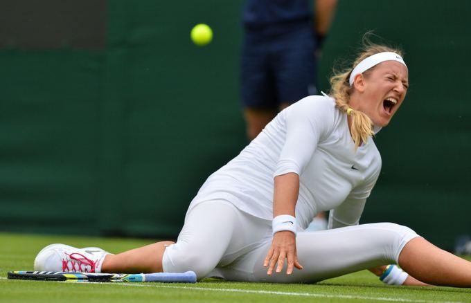 Victoria Azarenka susižeidė koją