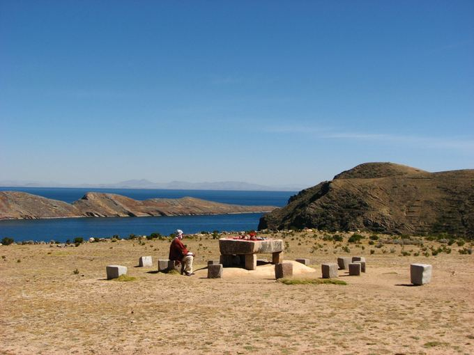 M.Gaubytės nuotr./Aukojimo vieta Saulės saloje Titikakos ežere
