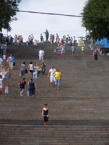 Gabija Kalauaytė nuotr./Potiomkino laiptai Odesoje