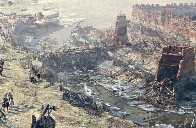 Trakų istorijos muziejaus nuotr./1362 metų Kauno pilies apgultis
