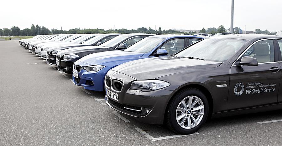 ES renginiams skirti BMW automobiliai