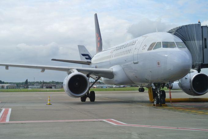 15min.lt/Violetos Grigaliūnaitės nuotr./Ia Vilniaus į Briuselį ir atgal skraidina ir Brussels Airlines bendrovė.