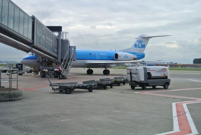 15min.lt/Violetos Grigaliūnaitės nuotr./KLM lėktuvas Briuselio oro uoste
