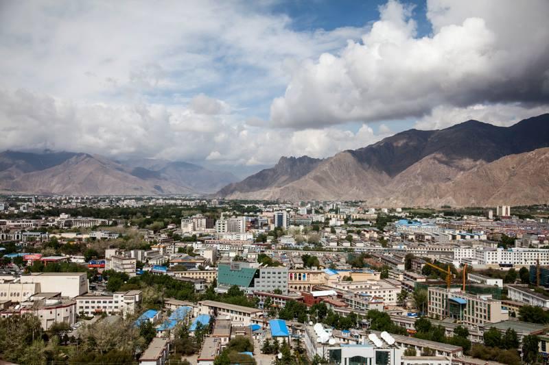 TIbeto sostinė Lasa iš viršaus