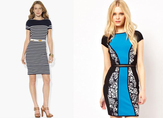 Ia kairės: Ralph Lauren suknelė ia nordstrom.com ir River Island suknelė ia asos.com.