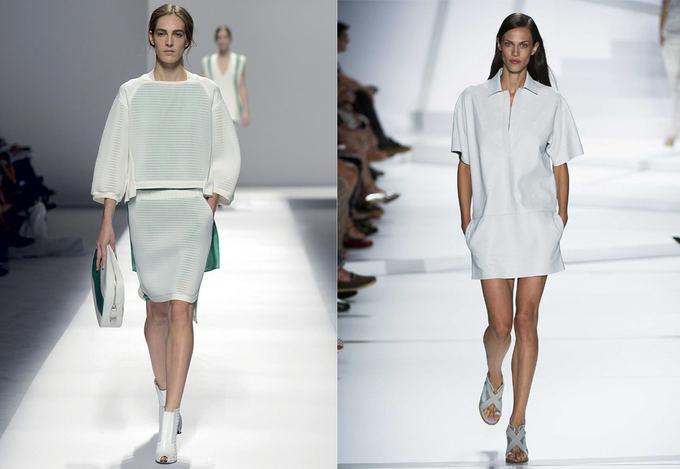 Ia kairės: Sportmax kolekcija Milano madų savaitėje, Sportmax.com nuotr. Deainėje: Lacoste kolekcija Niujorko mados savaitėje. Scanpix nuotr.