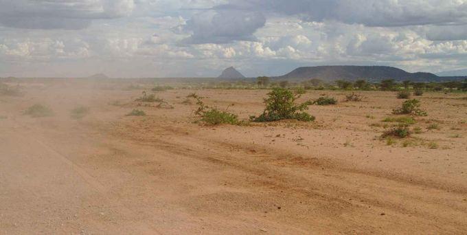 Evelinos ir Karolio nuotr./Dulkėti, duobėti ir sunkiai pravažiuojami keliai aiaurės Kenijoje.