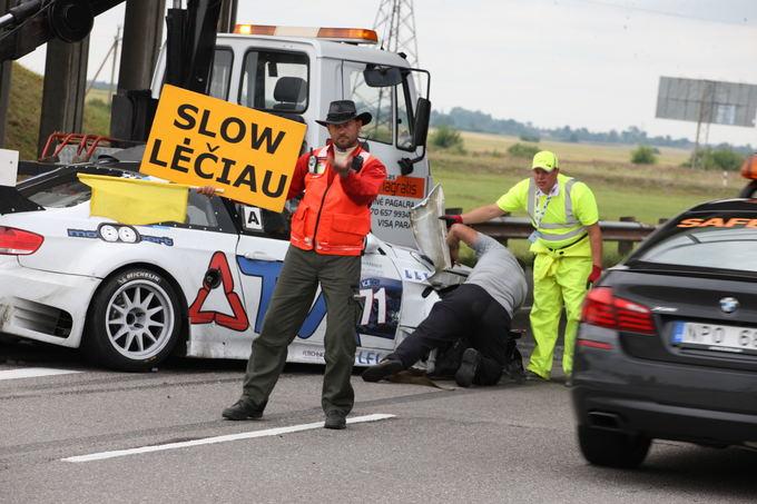 Algirdo Venskaus nuotr./TVA Racing BMW M3 avarija