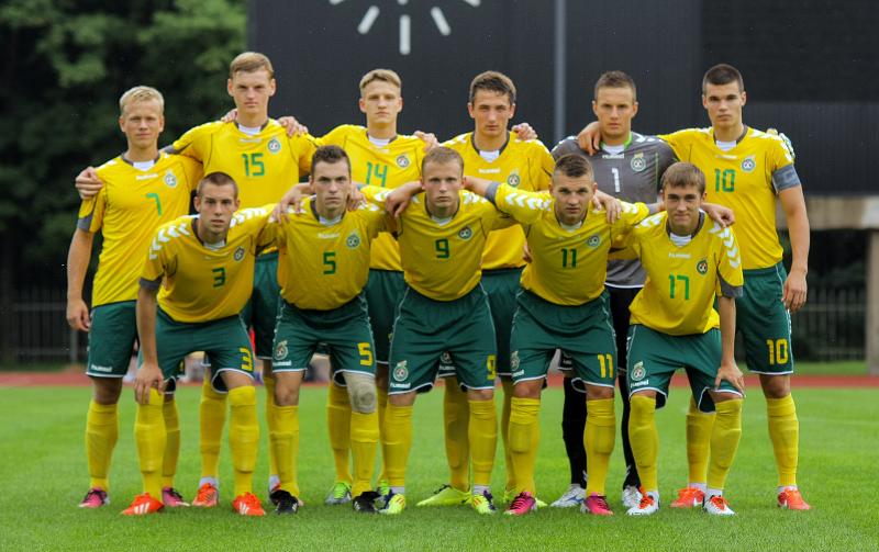 Lietuvos U-19 futbolo rinktinė.