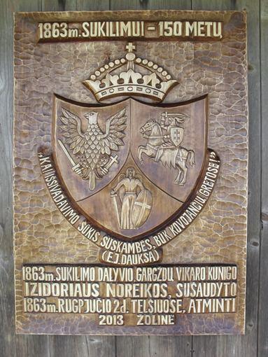Rimanto Laimos nuotr./Atminimo lenta 1863 m. sukilimo dalyviui, Gargždų vikarui kunigui Izidoriui Noreikai