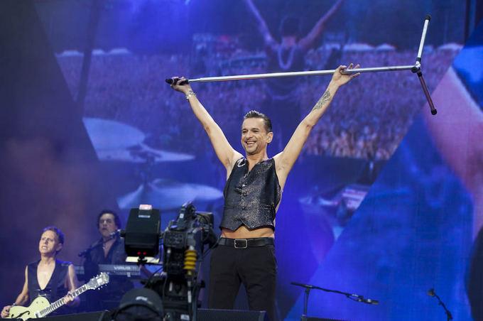 Depeche mode koncerto Vilniuje akimirka