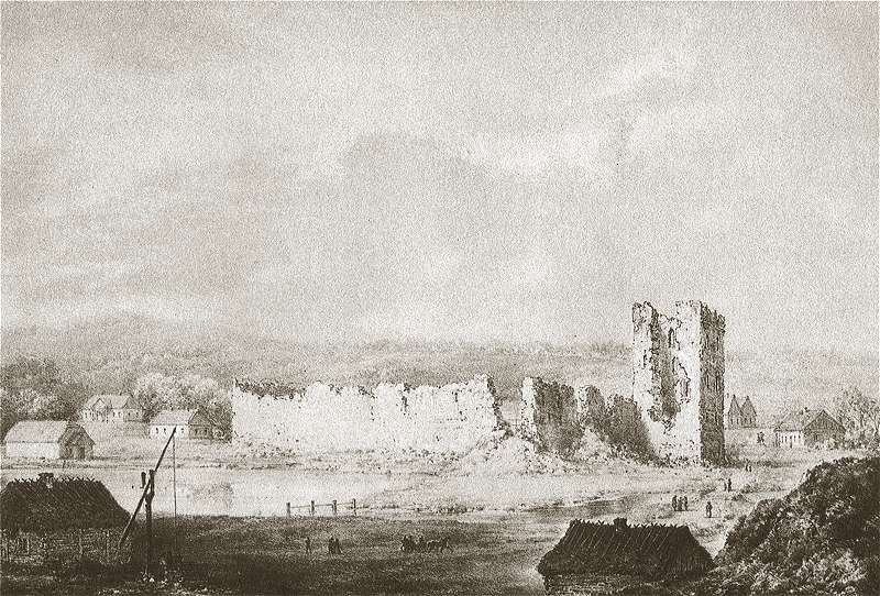 "Napoleono Ordos piešinys ""Krėvos pilis"" (XIX a.)"