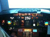 """L.Aigono/""""Facebook"""" nuotr./Prancūzas Laurentas Aigonas vaikų miegamajame įrengė tikrą """"Boeing 737"""" pilotų kabiną"""
